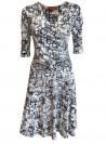 Mønstret kjole med tasker