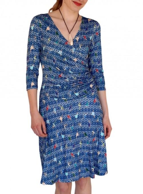 Blå kjole med dansere fra Dot & Doodle's