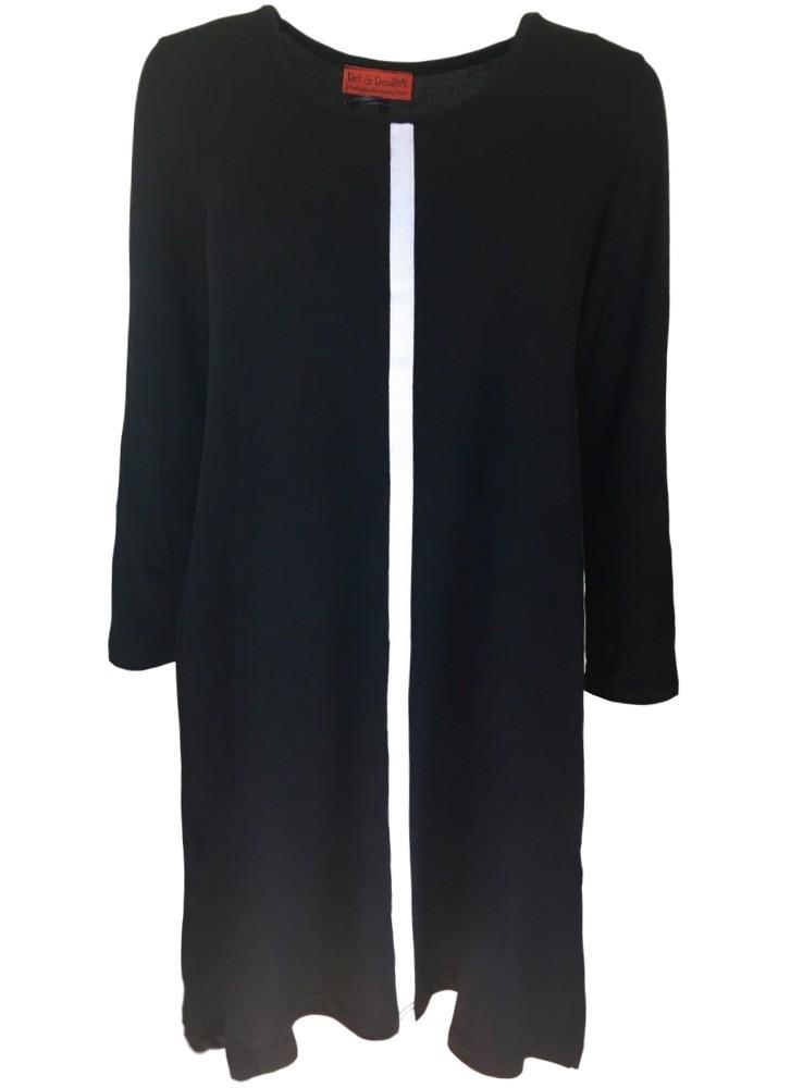 1a7556092db5 Dot   Doodle s kjole sort viskose-uld - Holiday Modesaloner