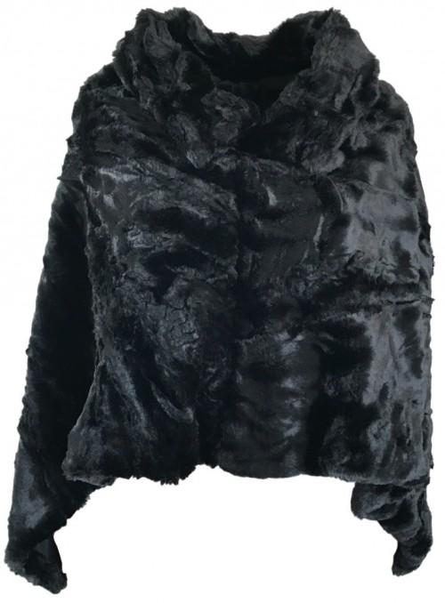 Poncho fake fur