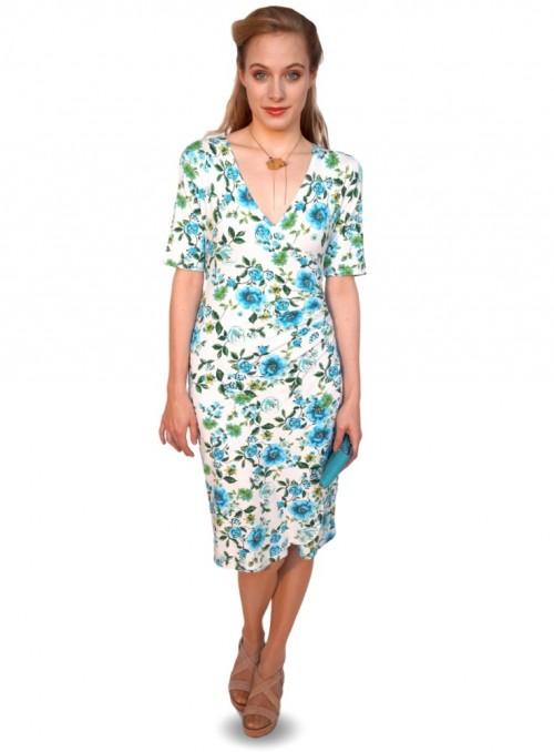 S & XL Dot & Doodle's kjole Christa Prima turkis