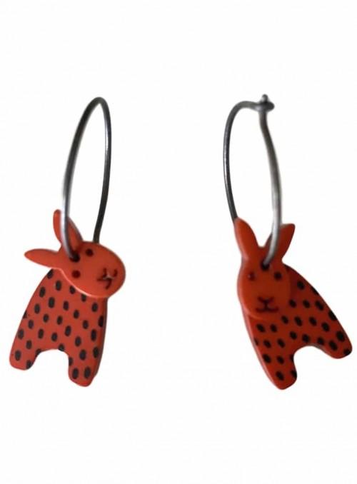 Øreringe rødbrune