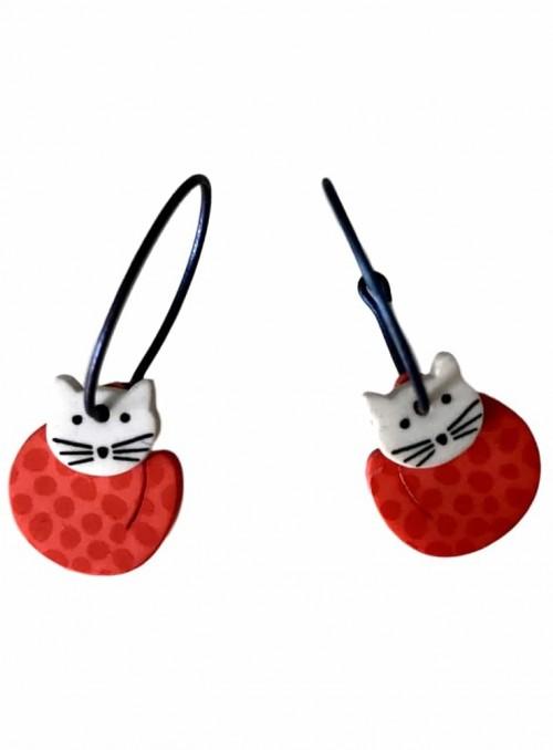 Øreringe katte røde