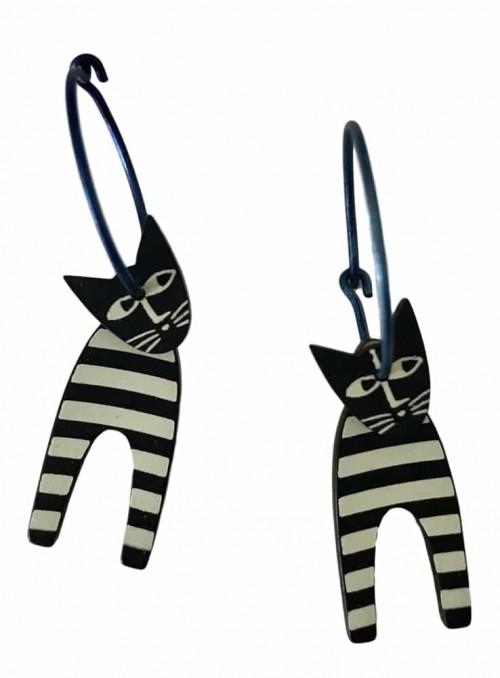 Øreringe katte brede striber