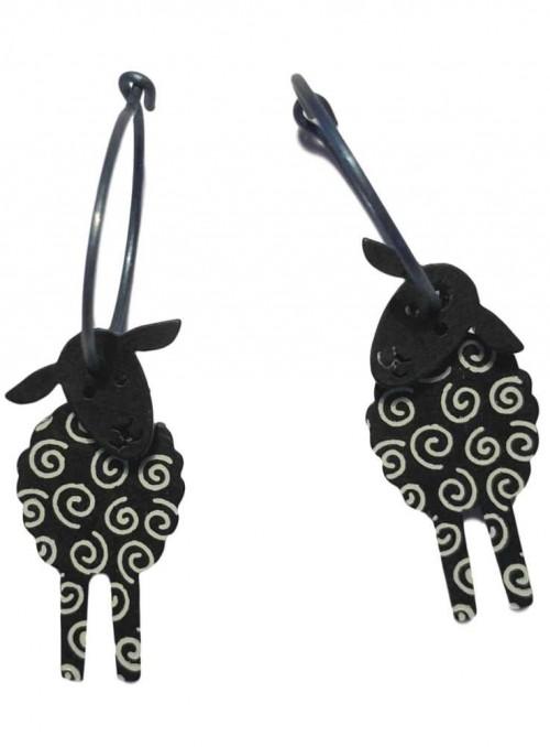 Øreringe sorte får