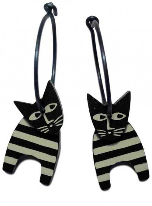 Øreringe kat strib