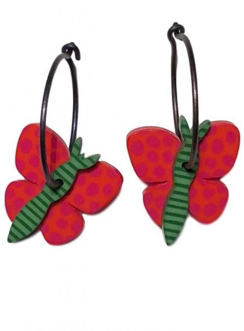 Øreringe sommerfugl