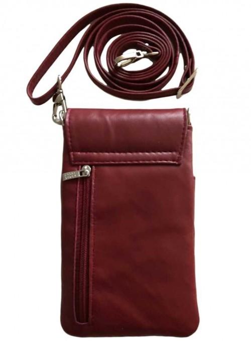 Mobil-taske vinrød, lille