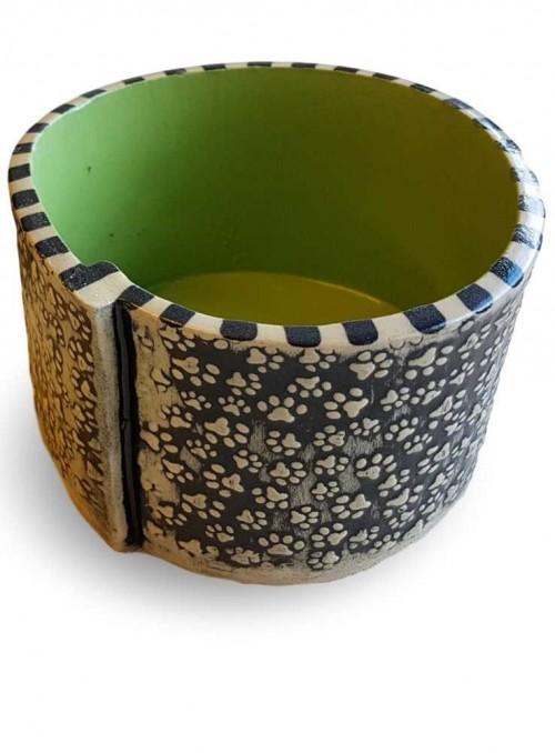 Skål i keramik med pote-mønster