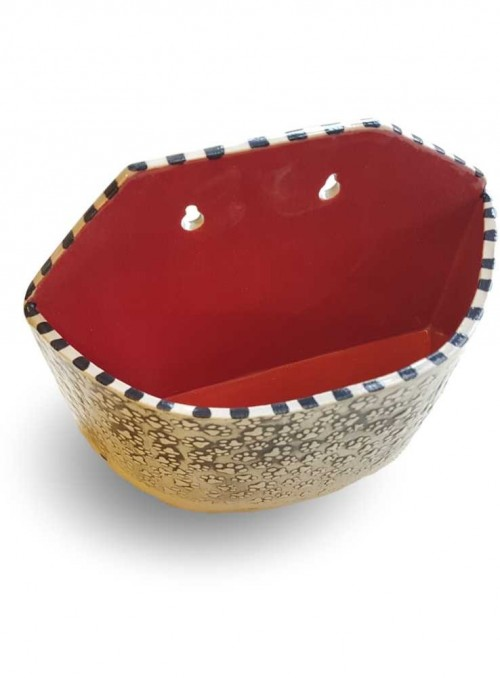 Væghængt keramikskål
