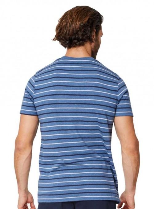 T-shirt stribet af hamp og økologisk bomuld fra Thought