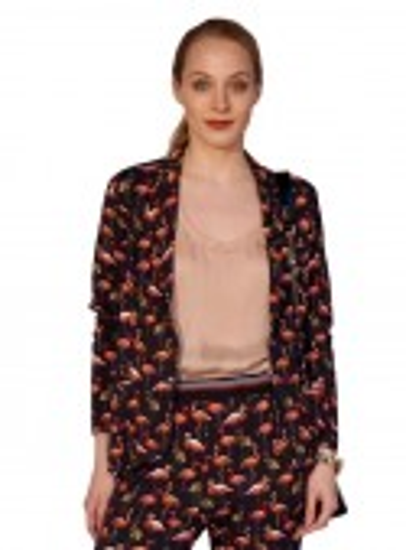 Dot & Doodle's jersey blazer Louisa Flamingo