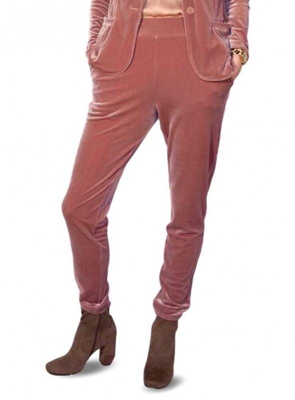 Velour bukser Pandy Vela Blush