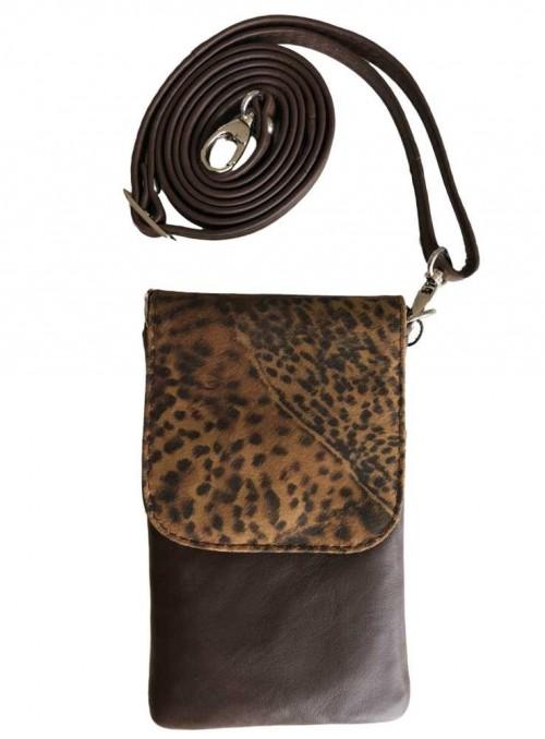Mobil-taske leopard, lille, Tokyo fra Cosy Style