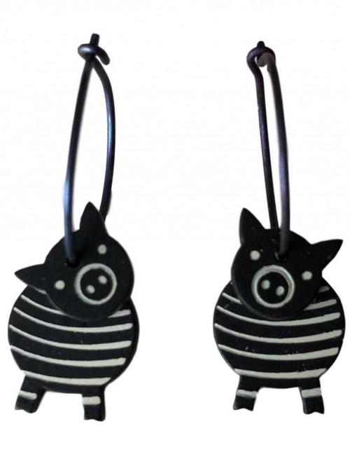 Øreringe stribede grise