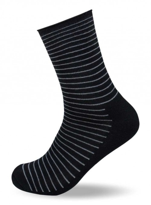 Diabetes sokker fra 50 kr, bambus strømper stribet