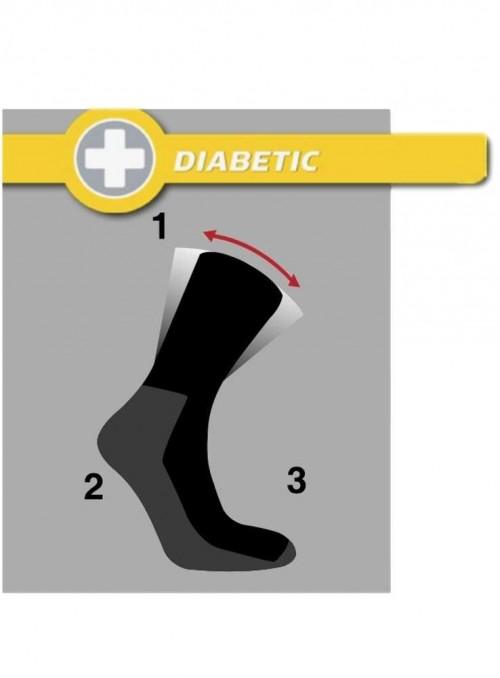 Diabetes sokker, bambus strømper stribet
