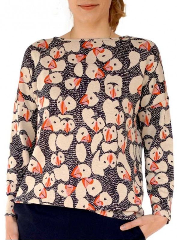 Sweater fra Dot & Doodle's, Becky Puffin