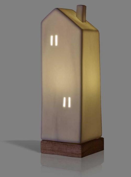 Bordlampe dekorations lampe Skyscraper