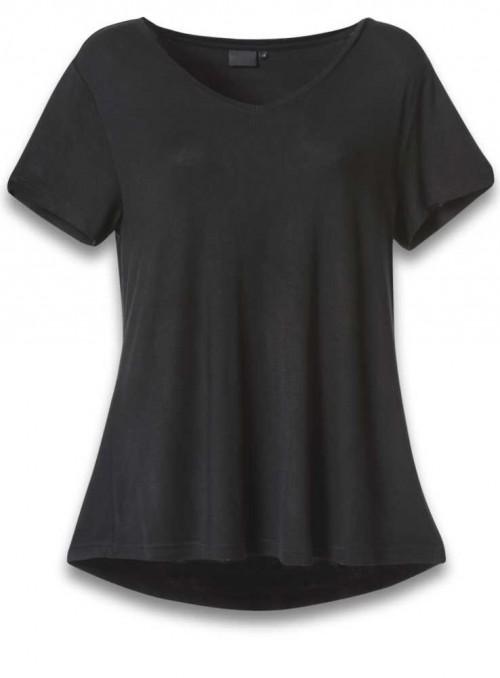 Bambus T-shirt sort, kortærmet