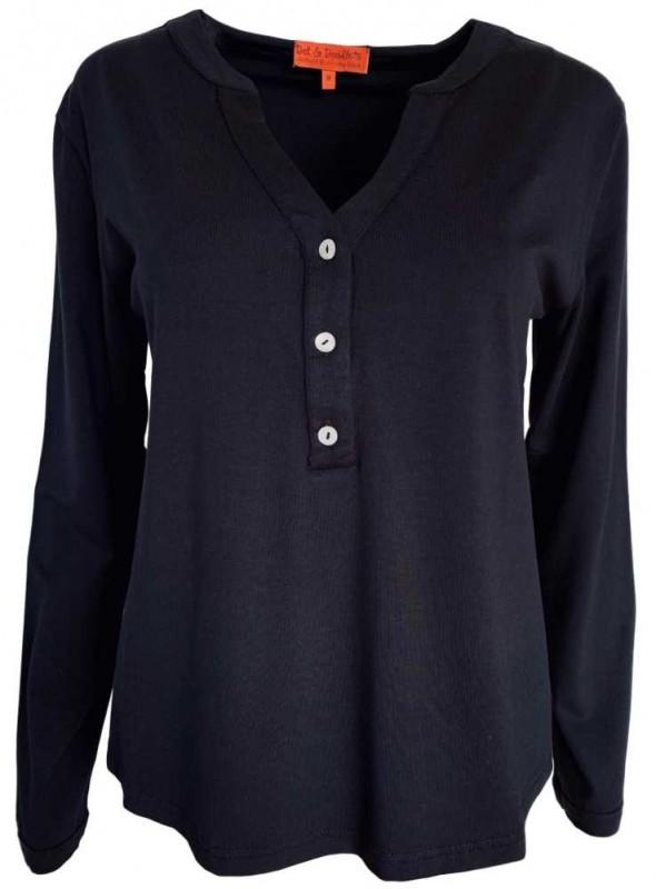 Jersey bluse Soffy All Black fra Dot & Doodle's