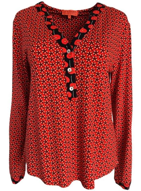 Jersey-bluse Soffy Star fra Dot & Doodle's