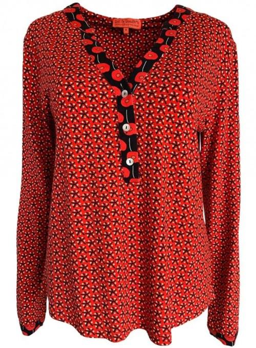Jersey-bluse Soffy Star fra Dot & Diodle's