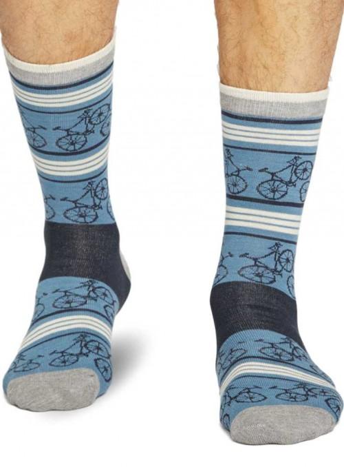 Bambus sokker herre m. økologisk bomuld, håndketlet tå