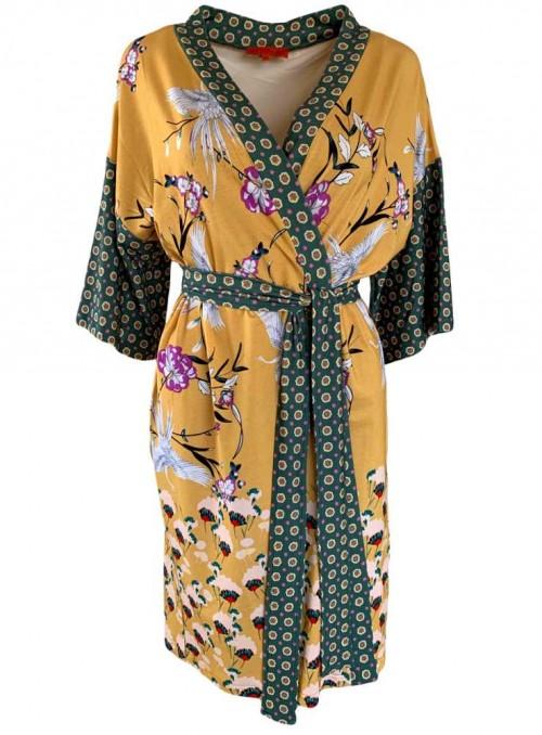 Kimono-kjole Mitzi Hibiscus