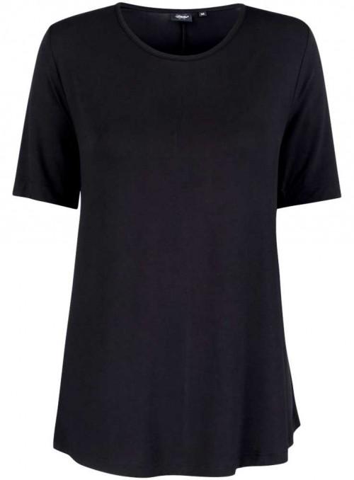 Bambus dame T-shirt sort, rund hals