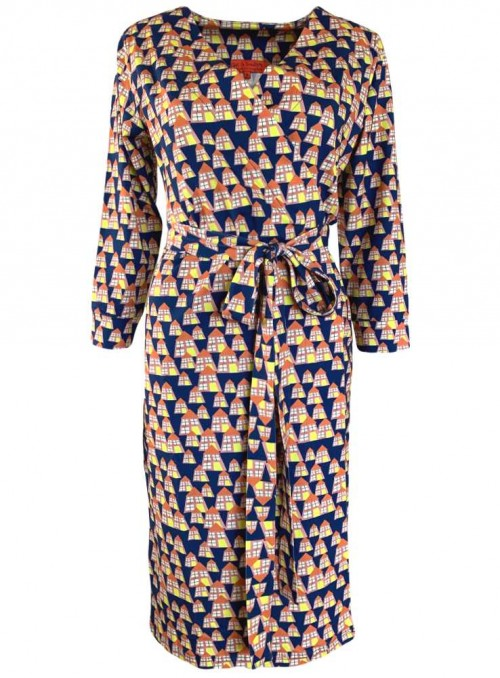 Str. M kjole økologisk bomuld Wendy Seaport fra Dot & Doodle's