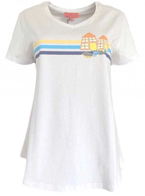 Str. M T-shirt økologisk bomuld Tilly Seaport fra Dot & Doodle's