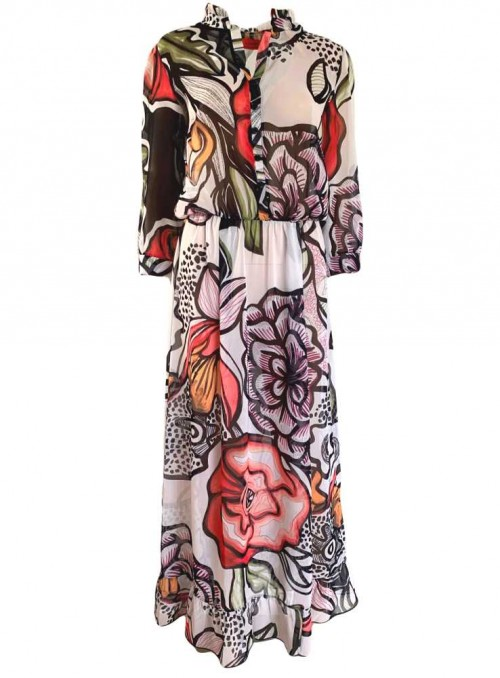 Str. M maxi-kjole Lola London fra Dot & Doodle's