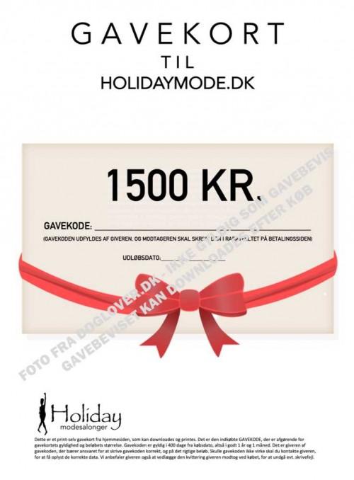 Gavekort 1500 kr.