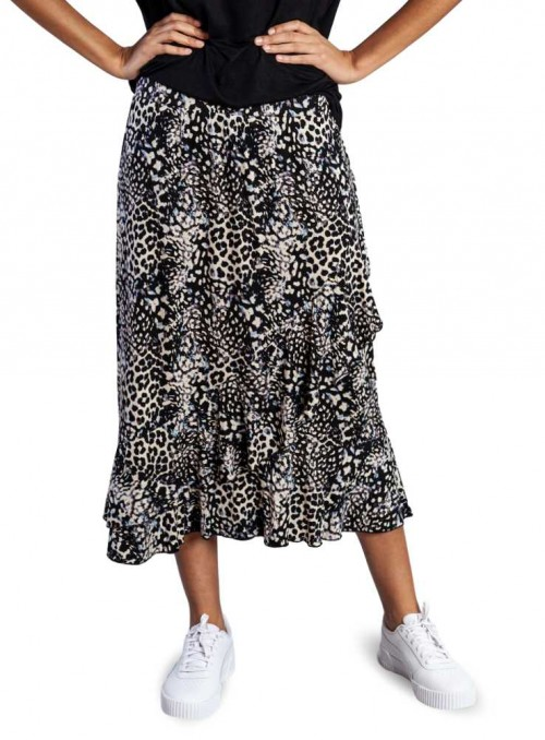 Bambus nederdel Leopard