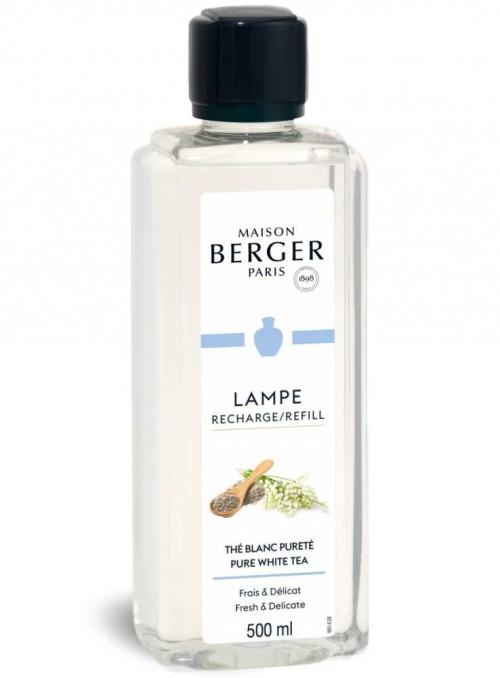 500 ml. Pure White Tea æterisk olie til Maison Berger luftrenser lampe