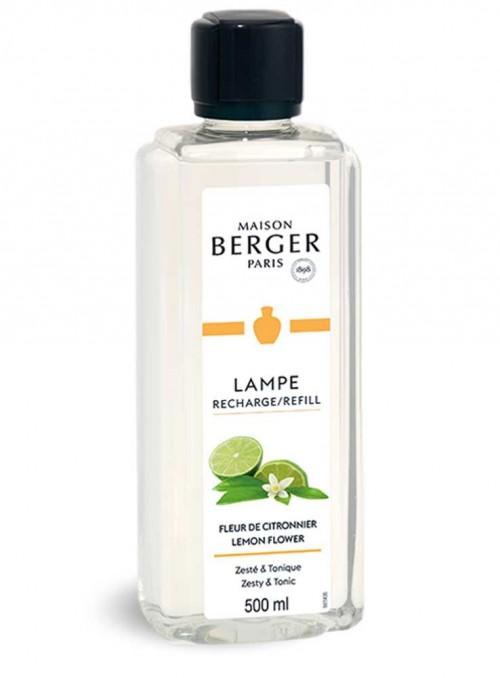 500 ml. Refill Lemon Flower æterisk olie til Maison Berger luftrenser lampe
