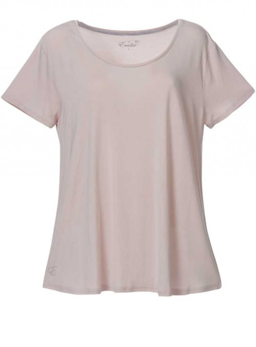 Bambus T-shirt i sart rosa