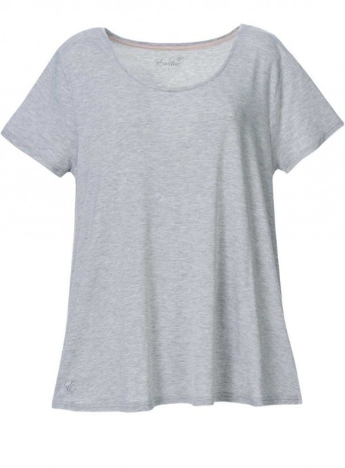 Bambus T-shirt i gråmelange