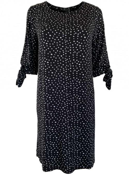 Bambus kjole sort med grå prikker