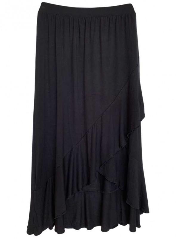 Bambus nederdel Sort
