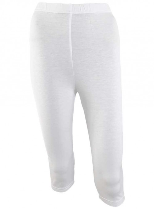 Bambus capri leggings hvide tights fra Festival
