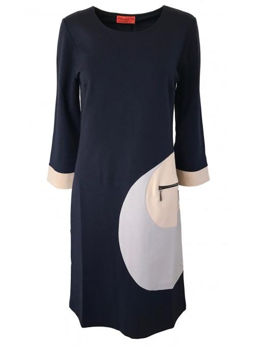 Dot & Doodle's kjole Vigga Punto Navy