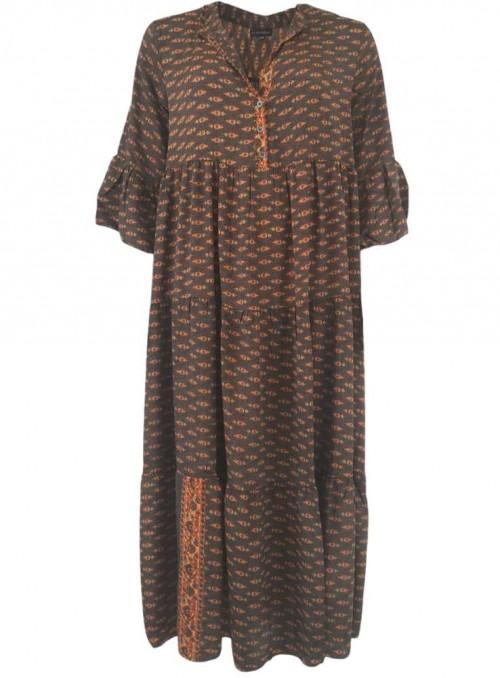 Kjole af sari-stof Luna Boho fra Black Colour