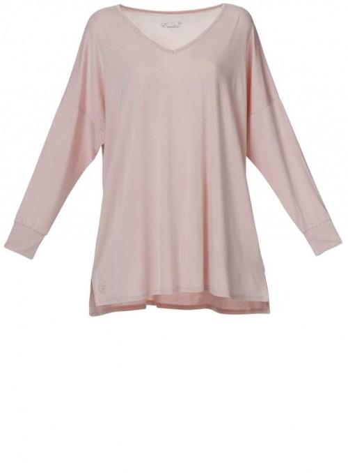 Bambus bluse rosa langærmet