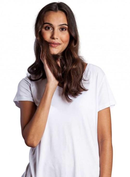 Bambus T-shirt, kortærmet, hvid