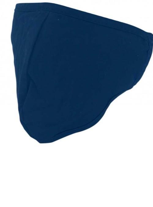 Mundbind, marineblå mode-maske 2 lag fra Black Colour