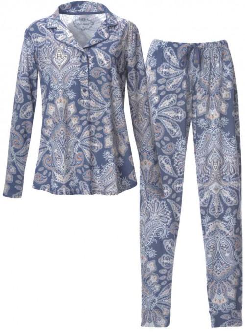 Pyjamas-sæt af mønstret bambus-jersey