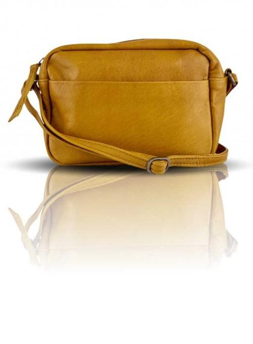 Lille gul læder taske fra Black Colour