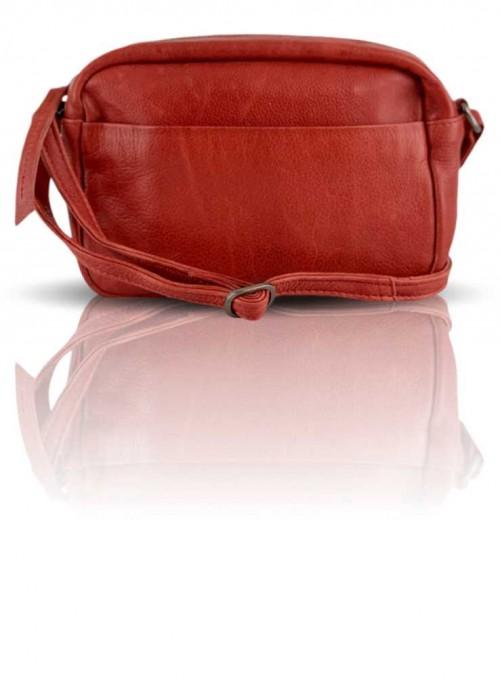 Lille rød læder taske fra Black Colour